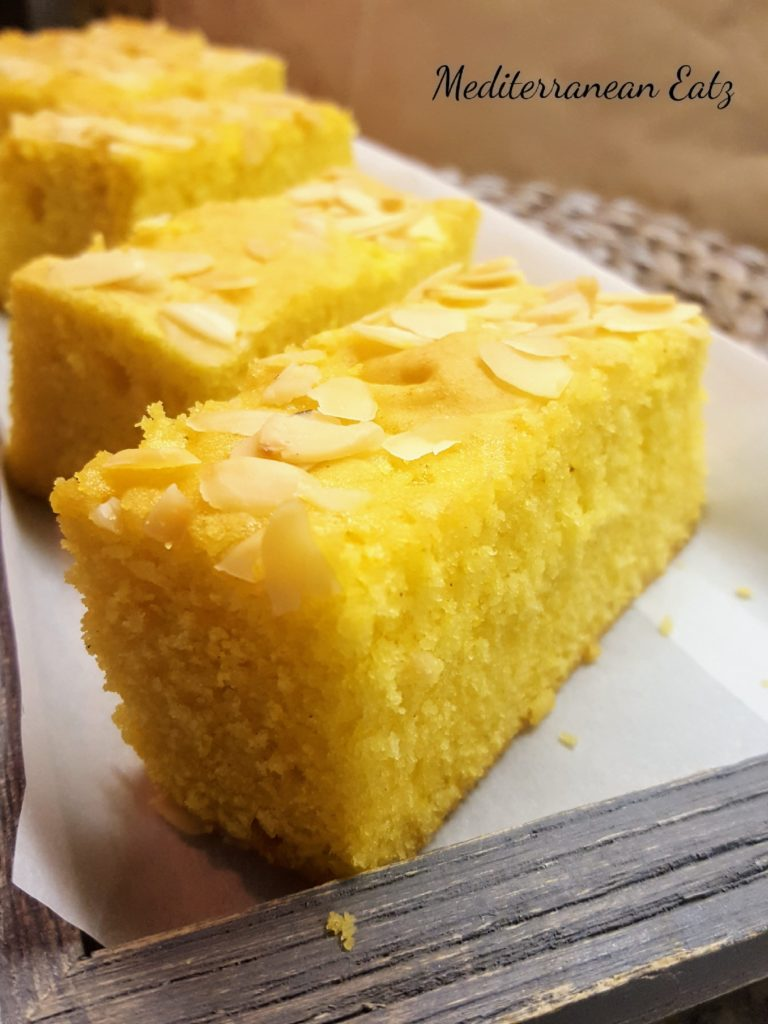Sfouf Samolina Turmeric Cake Mediterranean Eatz
